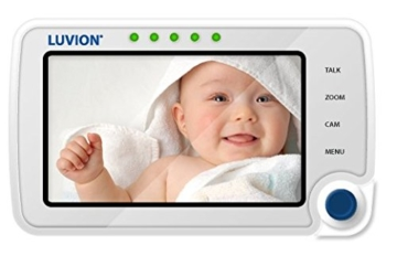 Luvion 71 Supreme Connect Digitales Babyphone mit Videofunktion, 4,3 Zoll Farbbildschirm, Dual-Modus (optional WiFi), weiß -