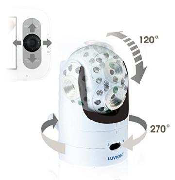 Luvion GE2 Grand Elite 2 - Infant Optics DXR-8 Digitales Babyphone mit Videofunktion, Farbdisplay 3.5 inch, digitale fernsteuerbare Kamera und optionale Objektive -