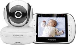 Motorola MBP36S Digitales Video Babyphone mit LC-Display in der Elterneinheit, 3.5 Zoll -