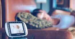 Motorola MBP36S Digitales Video Babyphone mit LC-Display in der Elterneinheit, 3.5 Zoll -