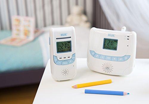 NUK 10256267 - Babyphone Eco Control+ DECT 267 mit Full Eco Mode; 100% frei von hochfrequenter Strahlung im Stand-by; mit Display, Schlaflieder und Nachtlicht -