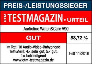 Audioline Watch & Care V90 - Videobabyphone -